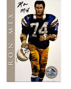 RON MIX HALL OF FAME SIGNATURE SERIES AUTOGRAPH #106/2500!! in Sports Mem, Cards & Fan Shop, Cards, Football | eBay