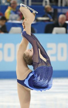 Yulia Lipnitskaya of Russia competes during the figure skating team ladies short program at the Sochi 2014 Winter Olympics.