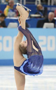 Yulia Lipnitskaya of Russia competes during the figure skating team ladies short program at the Sochi 2014 Winter Olympics.