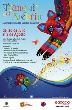 Alebrijes (Oaxacan woodcarvings) Fair in San Martin Tilcajete