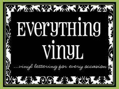 This blog site has a lot of cute vinyl ideas