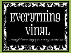 This blog site has a lot of cute vinyl ideas