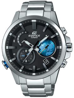 awesome Casio Mens Edifice Chronograph Bluetooth Bracelet Smartwatch EQB-600D-1A2ER just added...  Check it out at: https://buyswisswatch.co.uk/product/casio-mens-edifice-chronograph-bluetooth-bracelet-smartwatch-eqb-600d-1a2er/