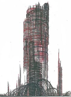 Iakov Chernikhov, architectural fantasy (1929)