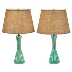 Oh, do I want these!  Pair of Venini Latticino Lamps  c1950 by ThirteenPieces on Etsy, $1800.00