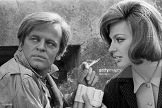 Princess Ira Furstenburg, noted as international jet-set beauty, is an actress now. At work, she's with polish-born actor Klaus Kinsky in a scene from 'Vatican Story'. The movie tells about an attempted raid on some Vatican treasure.4/17/1968