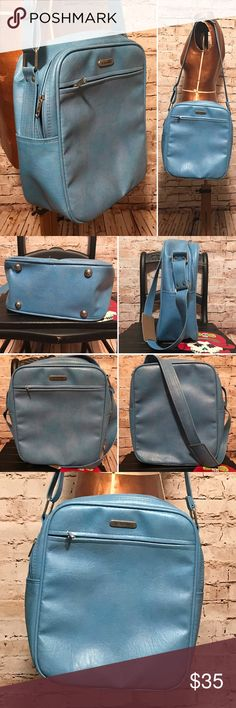 """Vintage Samsonite Carry On Bag LENGTH: 11"""" HEIGHT: 14"""" WIDTH: 5.5""""  MATERIAL: vinyl  This bag is in excellent condition. There are only a couple of very small scuffs that have came with age. They are only noticeable upon very careful inspection. The inside is clean. Vintage Bags Travel Bags"""