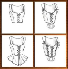 Corset Stays Bodice Sewing Pattern Renaissance Medieval Butterick 4669 Sizes 6-8-10-12. $5.00, via Etsy.