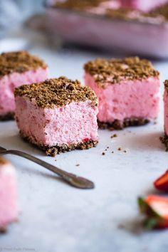 Healthy Frozen Strawberry Dessert Recipe | Food Faith Fitness