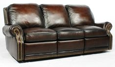 Barcalounger 39-6600 Premier ll Power Sofa Recliner in Stetson Coffee