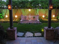 Exterior holiday outdoor  lighting packages from Houston's Illuminations Lighting Design Company.