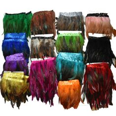 2 Yards 12 Color for Selections Rooster Tail Wedding Bride Dresses Decoration Skirt Feathers Party Decorative Boas Strip IF25 #Affiliate