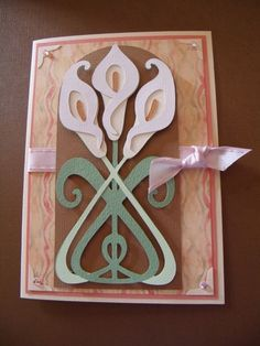 letter a projects butterfly card made with nouveau cricut cartridge 6725