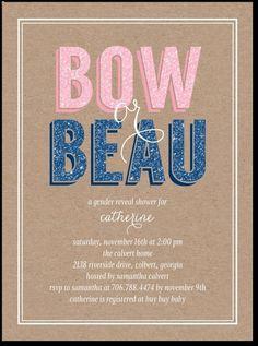 """bow or beau"" | cute gender reveal idea"