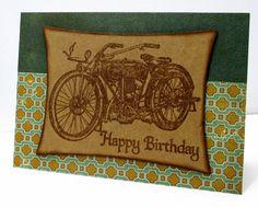 Jenfa Cards: Birthday Motorbike