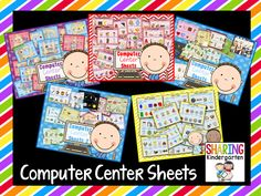 You MUST check out these Computer Center Sheets for your classroom!