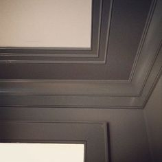 """For dining room or master ceiling trim idea. """"a simple beaded crown moulding and a small pencil moulding, combined with and in different applications to keep the house cohesive.""""- The Painted House Ceiling Trim, Low Ceiling, Starter Home, Ceiling Treatments, New Homes, Ceiling Design, Interior Paint, Home Decor, House Goodies"""