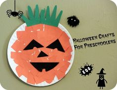 Halloween preschool craft - Paper plate craft for toddlers by lacey