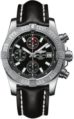 Breitling Watch Avenger II #add-content #bezel-unidirectional #bracelet-strap-leather #brand-breitling #case-depth-16-5mm #case-material-steel #case-width-43mm #chronograph-yes #cosc-yes #date-yes #delivery-timescale-call-us #dial-colour-black #gender-mens #luxury #movement-automatic #new-product-yes #official-stockist-for-breitling-watches #packaging-breitling-watch-packaging #style-sports #subcat-avenger #supplier-model-no-a1338111-bc32-435x