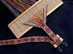 Vastvuga, weaving supplies (band woven on standard rigid heddle)