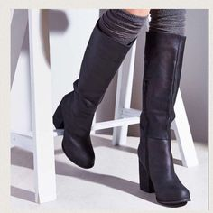 """Jeffrey Campbell """"Sark"""" Tall Platform Boots Worn 1x  purchased at Bloomingdales ✴️ Round Toe ✴️ Stacked Heel✴️super sexy knee high boots✴️ soft leather Jeffrey Campbell Shoes Heeled Boots"""