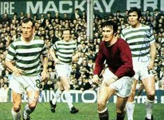 Hearts 1 Celtic 2 in August 1970 at Tynecastle. Bobby Lennox runs in to meet a corner in the Scottish League Cup, group section.