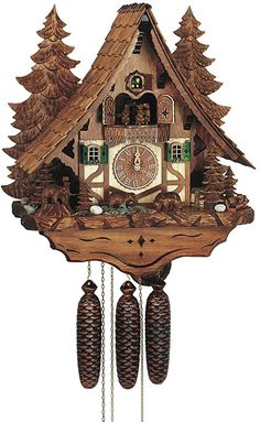 Schneider Chalet Cukoo Clock with Moving Bears, Woodchucks and Water Wheel Water Clock, Chalet Style, Rectangle Area, Diy Clock, Gas Fireplace, Home Decor Furniture, Wool Area Rugs, Diy Wall, Home Kitchens