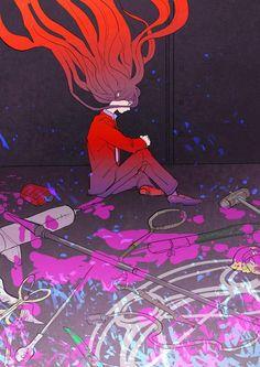 weapons, blood, and anime boy Izuru Kamukura Super Danganronpa, Danganronpa Memes, Danganronpa Characters, Hinata, Anime Demon Boy, Izuru Kamukura, Boy Images, Trigger Happy Havoc, Kamakura