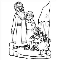 Easy Abraham sacrifices Isaac Bible craft. Enhance a
