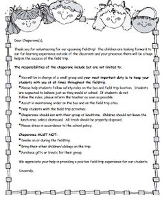 Kindergarten Kids At Play Chaperone Letter To Parents As Teachers Classroom