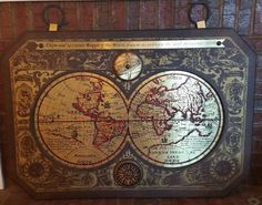 MASKETEERS OLD WORLD Brass MAP, A NEW and Accurate Mappe of the World 1628  | eBay