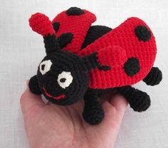 Crochet Ladybug Toy Pattern | Amigurumi Ladybug, Ladybug Crochet Pattern, Animal Pattern Crochet