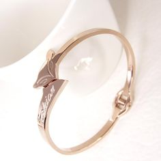 New Fashion Fox 14K Rose Gold Titanium Steel Bangle | Buy Wholesale On Line Direct from China