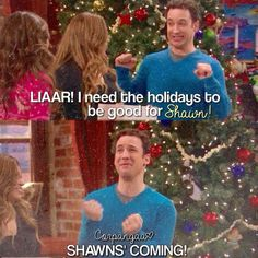 "#GirlMeetsWorld 1x16 ""Girl Meets Home for the Holidays"" Cory and Shawn reunite on Girl Meets World"