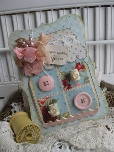 Cherry's Jubilee: De lente is een coming! Mason Jar Cards, Mason Jars, Tarjetas Diy, Cherries Jubilee, Sewing Cards, Shabby Chic Cards, Button Cards, Ideas Geniales, Marianne Design
