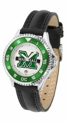 Marshall Thundering Herd Competitor Ladies Watch with Leather Band by SunTime. $74.55. The hottest sports watch on the market, the Competitor features the Marshall Thundering Herd team logo boldly displayed on the dial along with a colorful rotating timer/bezel, quartz accurate movement and leather/nylon strap. The combined leather underneath and nylon on top makes the watch water resistant as well.¶Wear it to a game, while watching a game or just to show off your NCAA pride whe...