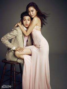 유이와 우식 사이 - STYLE.COM Uee And WooSik for Allure March 2015