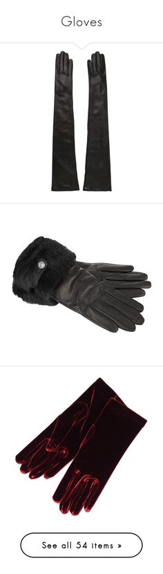 """""""Gloves"""" by julia0331 ❤ liked on Polyvore featuring accessories, gloves, black, long gloves, nappa leather gloves, napa gloves, animal gloves, dsquared2, leather gloves and real leather gloves"""