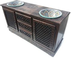 Exotic african furniture, Carved furniture, Ethnic furniture, african tables & nightstands only at justmorocco Silver Furniture, Entryway Furniture, Modular Furniture, Bathroom Furniture, Antique Furniture, Moroccan Design, Moroccan Decor, Moroccan Furniture, Moroccan Style
