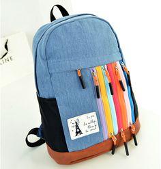 stacy bag hot sale women canvas backpack girl zipper travel backpack lady casual travel bag female leisure backpack school bag $9.00