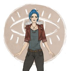 """brimmely:  Quick doodle of Karou from the """"Daughter of Smoke & Bone"""" series by Laini Taylor."""