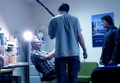 David Griffith directing Alton Milne on the set of TimeLock, the Scottish microbudget thriller feature