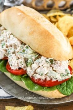 Classic Chicken Salad - Spend With Pennies Ranch Chicken Salad Recipe, Homemade Chicken Salads, Chicken Salad With Grapes, Grilled Chicken Salad, Chicken Bacon Ranch, Chicken Recipes, Chicken Sandwich, Grape Salad, Bacon Dressing