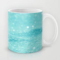 Glitter Turquoise Mug