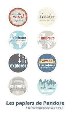 Jolies étiquettes pour un beau voyage