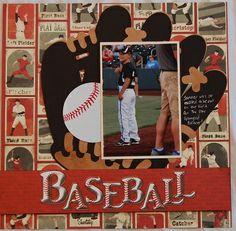 Baseball Scrapbook Layout