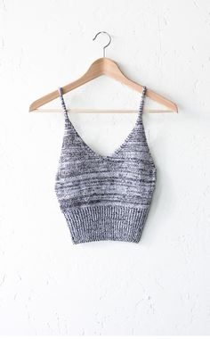 - Description - Size Guide Details: Soft & stretchable sweater knit crop top in black/white with v-neck at front & straight back. Form fitting, tend to run on the smaller side & are more fitted. 100%
