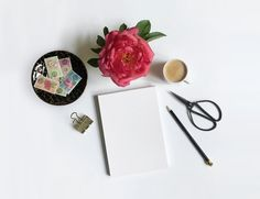 white paper, scissors, pen, coffee, flower, and clip on white surface Calligraphy For Beginners, Teacup Pigs, Seo For Beginners, Free High Resolution Photos, Diy Baby Gifts, Floral, Makes You Beautiful, Apple Wallpaper, Peony Flower