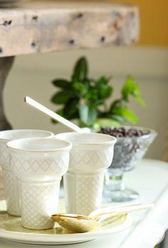 Ceramic ice cream cones