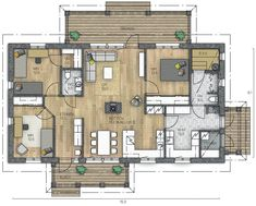 RAUHALA 188 - Kannustalo Future House, House Plans, Sweet Home, Floor Plans, Home And Garden, House Design, Flooring, How To Plan, Interior